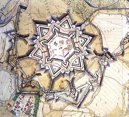 Mapa protitureckej pevnosti