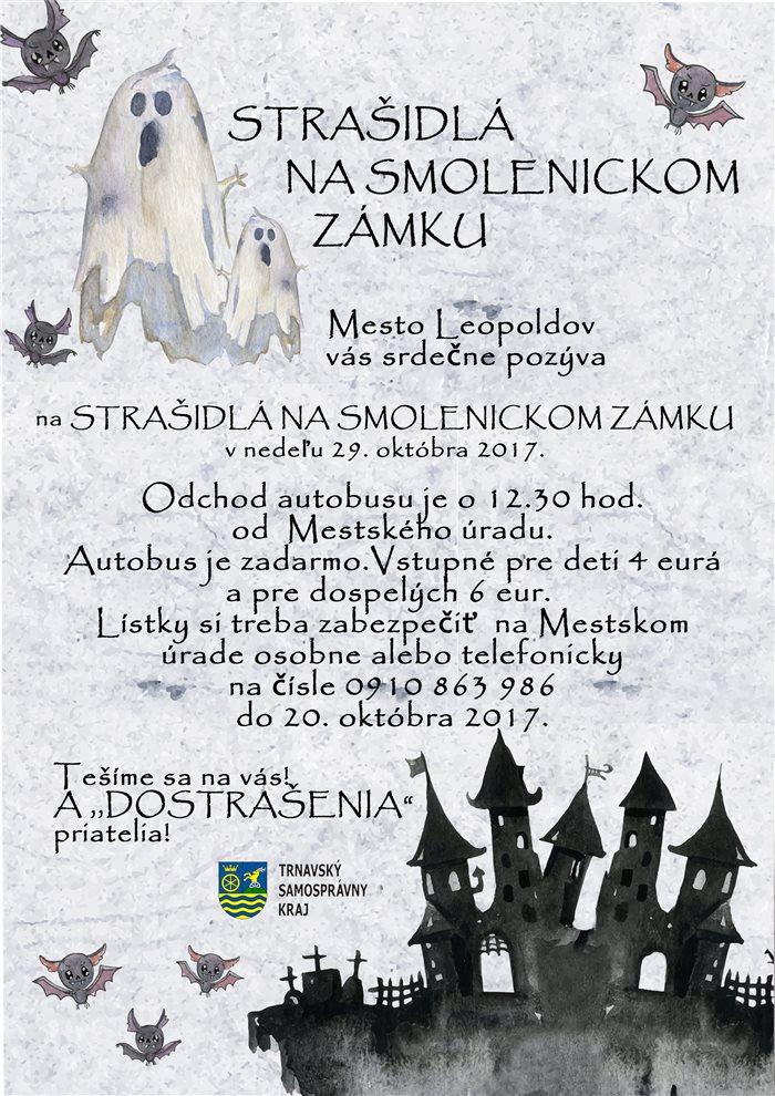 plagát strašidlá na smolenickom zámku